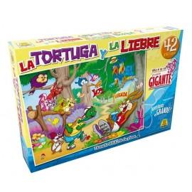 PUZZLE LA TORTUGA Y LA LIEBRE GI 42P 249