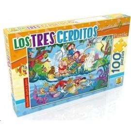 PUZZLE LOS 3 CERDITOS 100 PZAS ART 225
