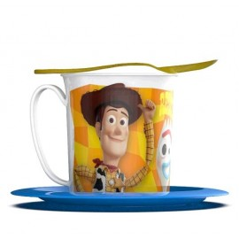 SET TAZA PLATO Y CUCHARA TOY STORY