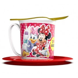 SET TAZA PLATO Y CUCHARA MINNIE
