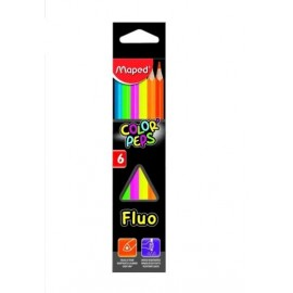 LAPICES DE COLOR PEPS FLUO 832003