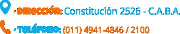 Constitución 2526 - C.A.B.A | Tel. 011 4941-4846